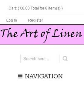 Siddharth Singh done work in  the-art-of-linen.com, wordpress responsive theme, ecommerce theme