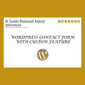 Siddharth Singh make the content form of  missouriinjurylawyers.com, in wordpress responsive theme with custom feature.