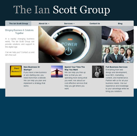 Siddharth Singh make the theme of ianscottgroup.com, in wordpress with responsive feature.