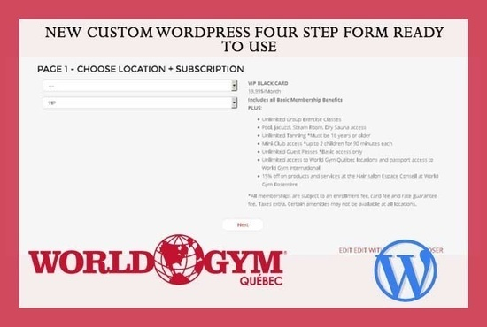 http://worldgym.a1genius.com/ site step wise form is develop here on Sand It Solution