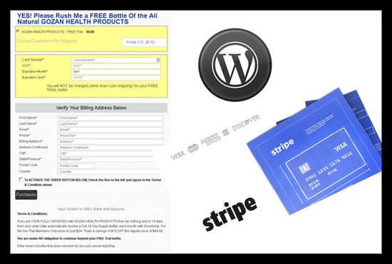 http://gozanoffer.com/ wordpress plguin which work on stripe payment gateway develop by Sand It Solution