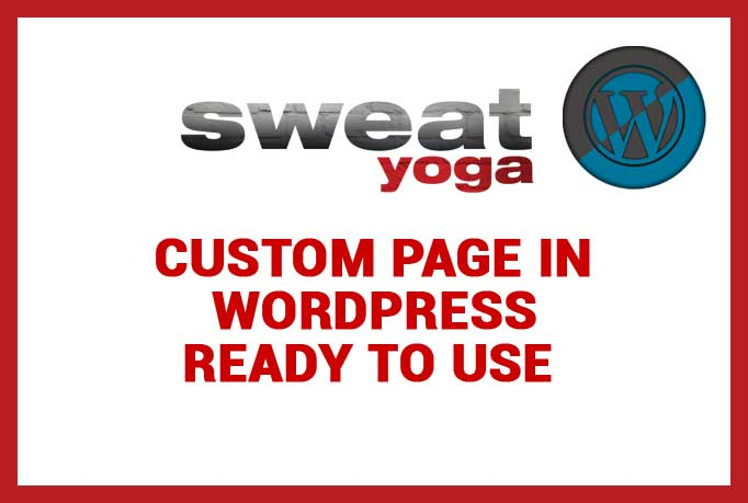 we developed sweat-yoga.com wordpress theme in Sand It Solution