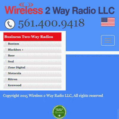 Wireless 2 Way Radio is ecommerce site sales wireless products